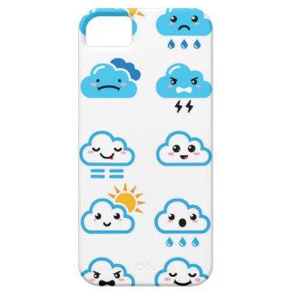 Niedliches Kawaii, manga Wolken iPhone 5 Etui