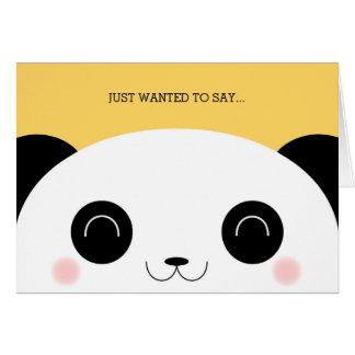 Niedliches Kawaii Peekaboo-Panda-Gesicht danken Karte
