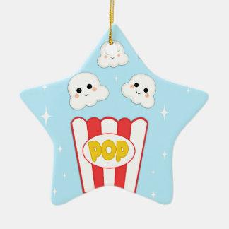Niedliches Kawaii Popcorn Keramik Ornament