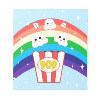 Niedliches Kawaii Popcorn Notizblock