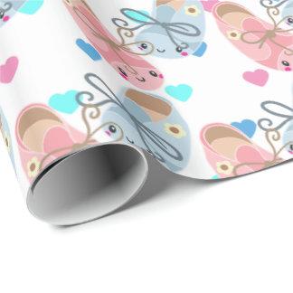 Niedliches Kawaii Schuhe Geschlecht decken Geschenkpapier