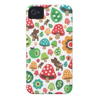 Niedliches Kindermuster mit Blumenblatt-Rotwildpil Case-Mate iPhone 4 Hüllen