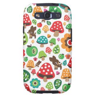 Niedliches Kindermuster mit Blumenblatt-Rotwildpil Galaxy S3 Hüllen