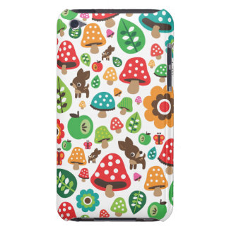 Niedliches Kindermuster mit Blumenblatt-Rotwildpil Barely There iPod Hüllen