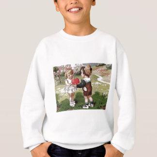 Niedliches Kinderpaar-Herz-Gänseblümchen Sweatshirt