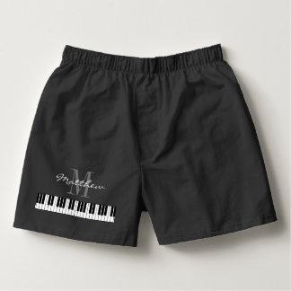 Niedliches Klavier befestigt Herren-Boxershorts