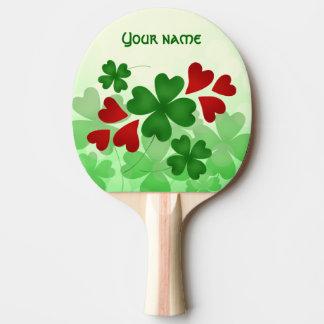 Niedliches Kleeblatt St. Patricks Tagesund rote Tischtennis Schläger