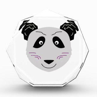 Niedliches kleiner Panda blackgrey Acryl Auszeichnung