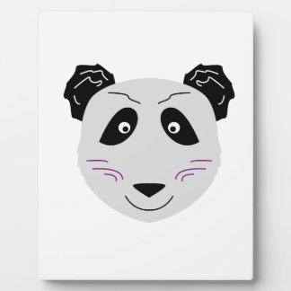 Niedliches kleiner Panda blackgrey Fotoplatte