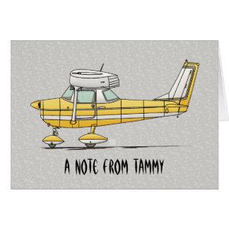 Niedliches kleines Flugzeug Karte