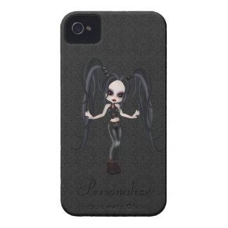 Niedliches kleines Goth Mädchen-BlackBerry-mutiges iPhone 4 Hülle