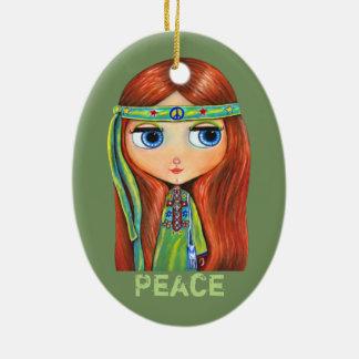 Niedliches kleines grünes keramik ornament