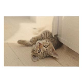 Niedliches kleines Kätzchen Holzwanddeko