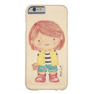 Niedliches kleines Mädchen mit ihrem Teddy Barely There iPhone 6 Hülle