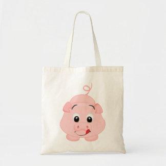 Niedliches kleines rosa Piggy Tragetasche