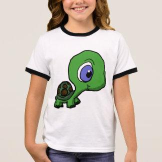 Niedliches kleines Schildkröte-Shirt Ringer T-Shirt