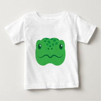 niedliches kleines Schildkrötenschildkrötegesicht Baby T-shirt