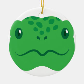 niedliches kleines Schildkrötenschildkrötegesicht Keramik Ornament