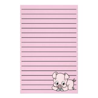 Niedliches kleines Schwein Briefpapier