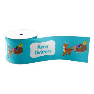 Niedliches kleines Scrucffy Ren-Weihnachtsband Ripsband