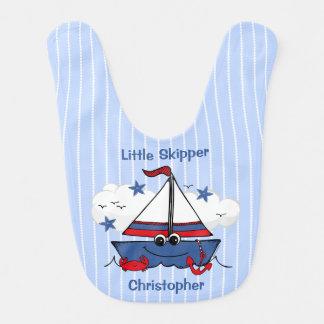 Niedliches kleines Segelboot Lätzchen