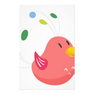 niedliches kleines Vogelfliegen und Gesang Briefpapier