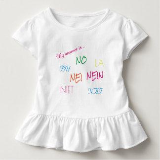 Niedliches Kleinkind-Shirt mit einer Aussage Kleinkind T-shirt
