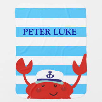 Niedliches Krabben-blaue Streifen-Muster-Empfangen Puckdecke