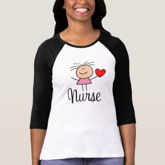 Niedliches Krankenschwester-T-Stück T-Shirt