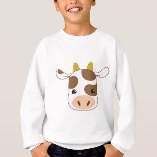 niedliches Kuhgesicht Sweatshirt