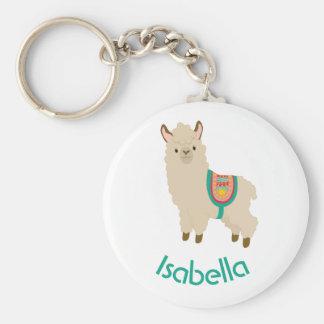 Niedliches Lama addieren Ihren aquamarinen Schlüsselanhänger