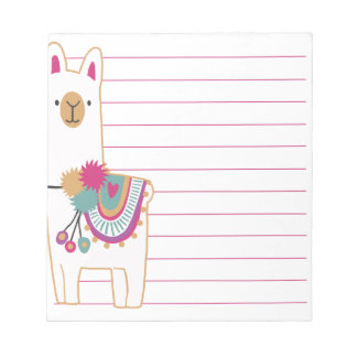Niedliches Lama Notizblock