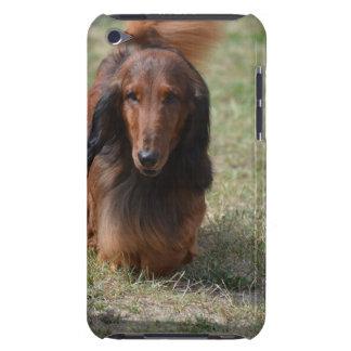 Niedliches langhaariges Daschund iPod Touch Case-Mate Hülle
