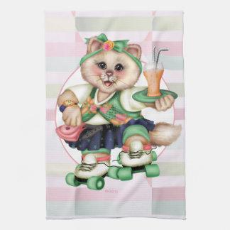 NIEDLICHES Leinen ROLLECAT mit Tonware Handtuch