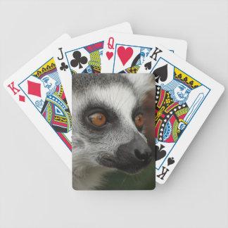Niedliches Lemurporträt Bicycle Spielkarten