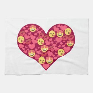 Niedliches Liebe-Kuss-LippenEmoji Herz Küchentuch