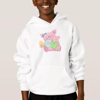 Niedliches Liebe-Schwein Hoodie