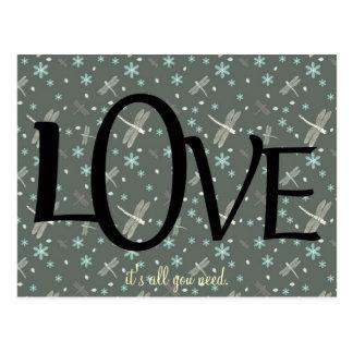 Niedliches Liebe-Zitat Postkarten