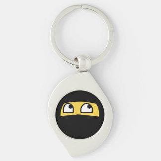 Niedliches lil ninja emoji schlüsselanhänger