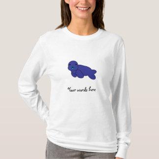 Niedliches lila Siegel T-Shirt