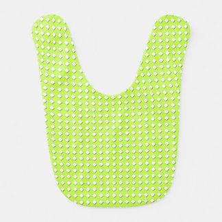 Niedliches Limones grünes geometrisches Muster - Babylätzchen