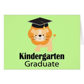 Niedliches Löwe-Kindergarten-Abschluss-Geschenk Karte