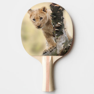 Niedliches Löwejunges Tischtennis Schläger