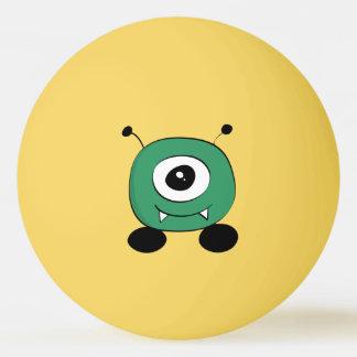 Niedliches lustiges grünes alien tischtennis ball