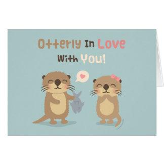 Niedliches lustiges Otterly in der Liebe mit Ihnen Karte