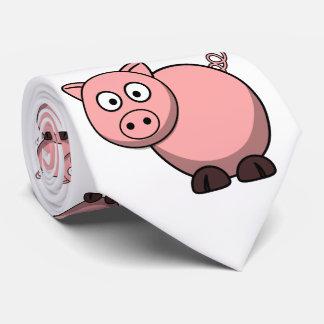 niedliches lustiges rosa Cartoonschwein für Bauern Bedruckte Krawatten