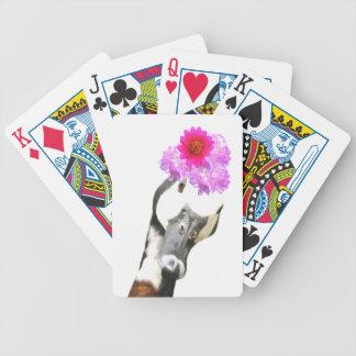 Niedliches lustiges Vieh der Gans girly Bicycle Spielkarten