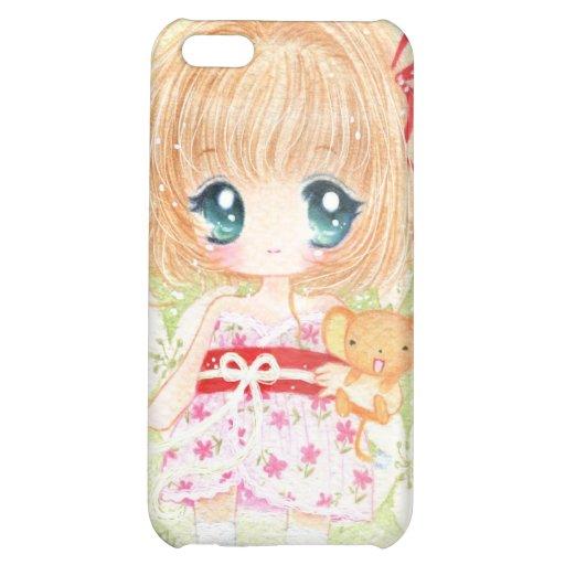 Niedliches Mädchen mit kawaii plushie iPhone 5C Hülle