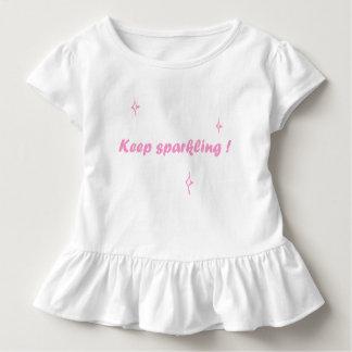 Niedliches Mädchen-Shirt - Keep funkelnd Kleinkind T-shirt