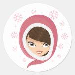 Niedliches Mädchen Sticker